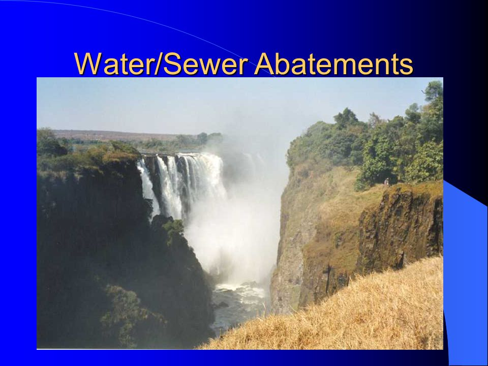 Water/Sewer Abatements