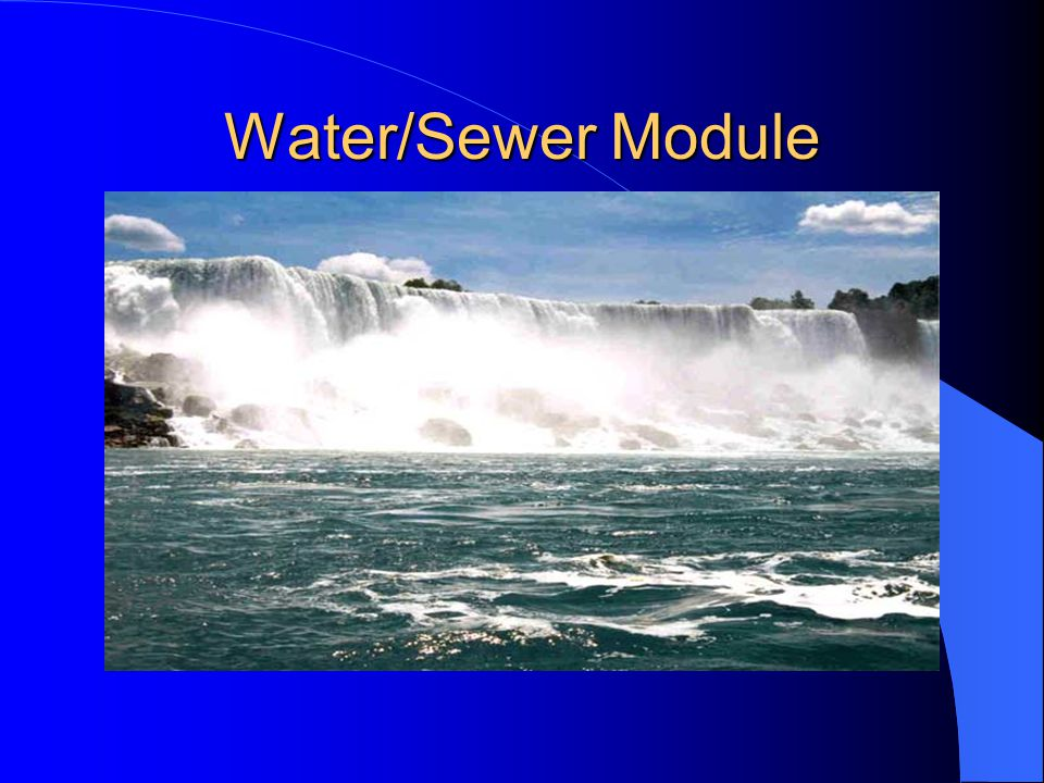 Water/Sewer Module