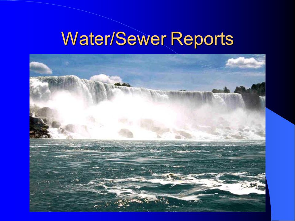 Water/Sewer Reports