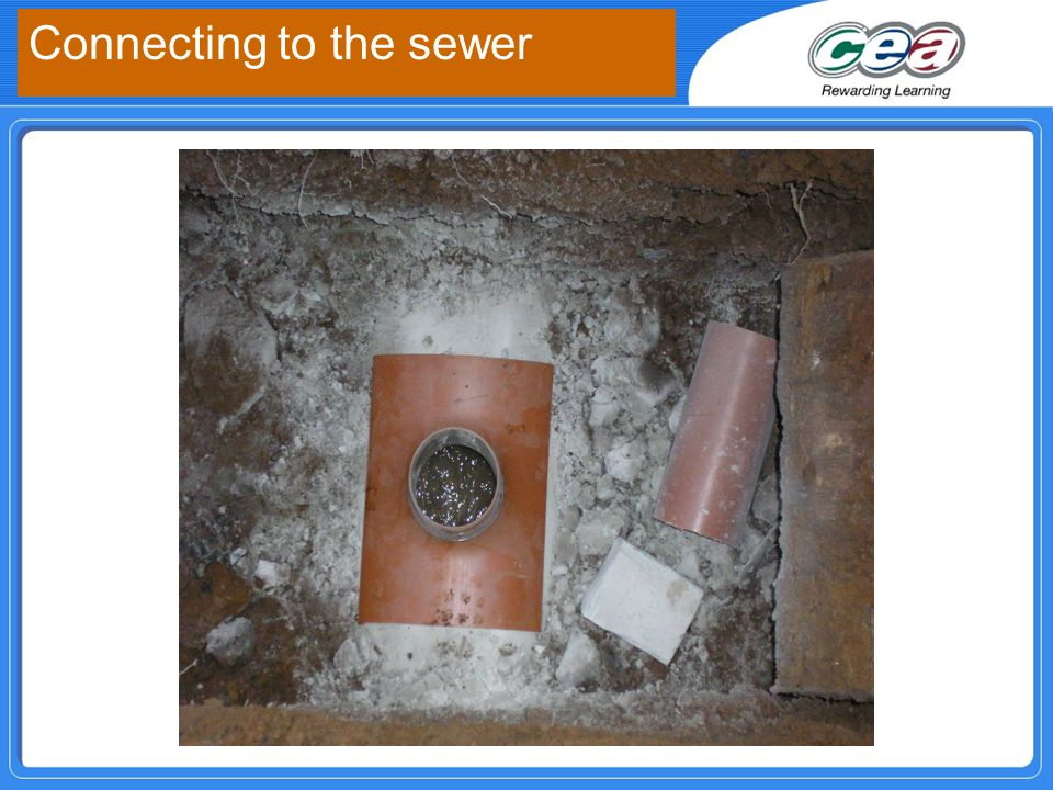 Connecting to the sewer