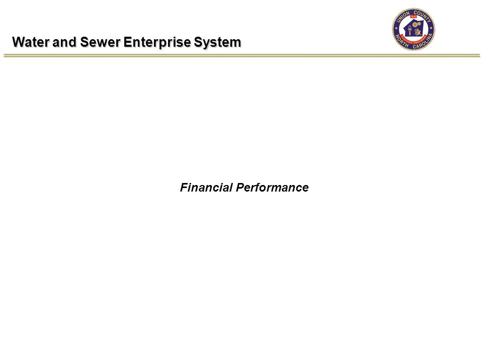 Water and Sewer Enterprise System Financial Performance