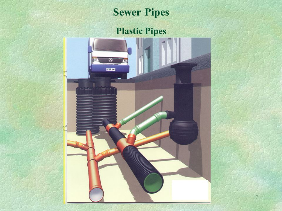 7 Sewer Pipes Plastic Pipes