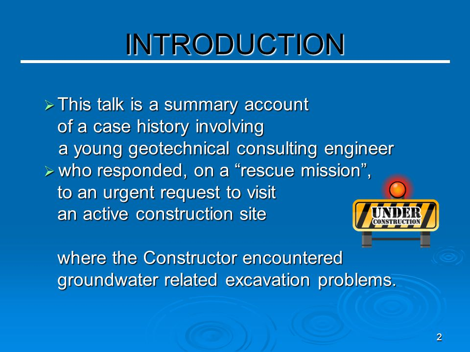 23 Post Failure Investigation (For Developer) [continued]  The three boreholes put down at, and between, the failure areas - encountered silty fine sand at and below pipe invert level.