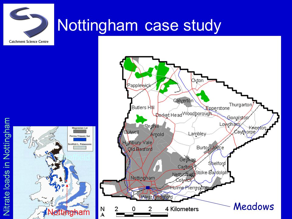 Nottingham case study Sheffield Nottingham Meadows Nitrate loads in Nottingham