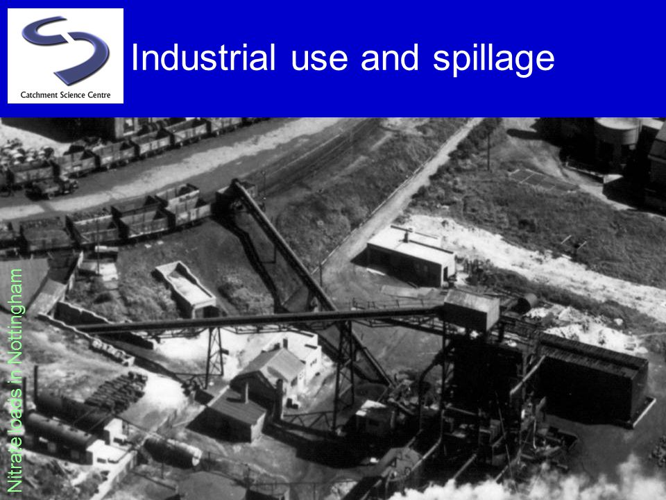 Industrial use and spillage Nitrate loads in Nottingham