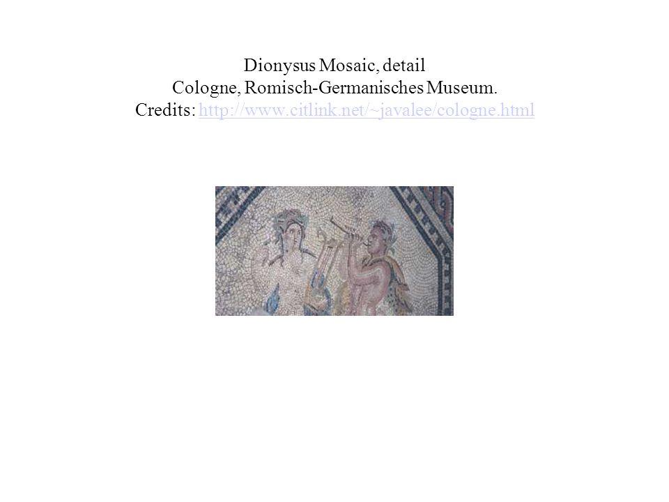 Dionysus Mosaic, detail Cologne, Romisch-Germanisches Museum.