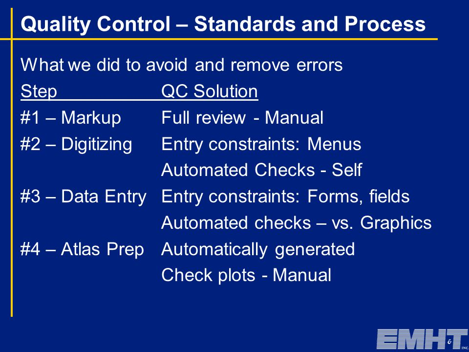 Quality Control – Standards and Process What we did to avoid and remove errors StepQC Solution #1 – MarkupFull review - Manual #2 – DigitizingEntry co