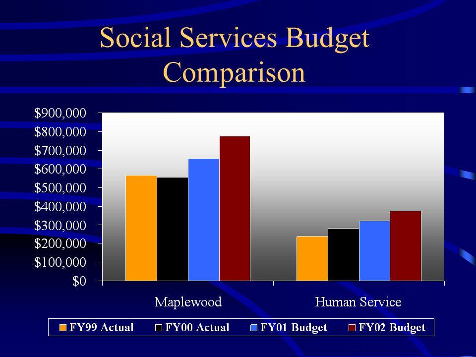 Social Services Budget Comparison