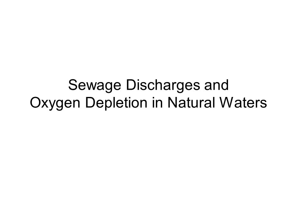 Disinfection Lecture Question –What are the main methods of disinfection used in sewage treatment.
