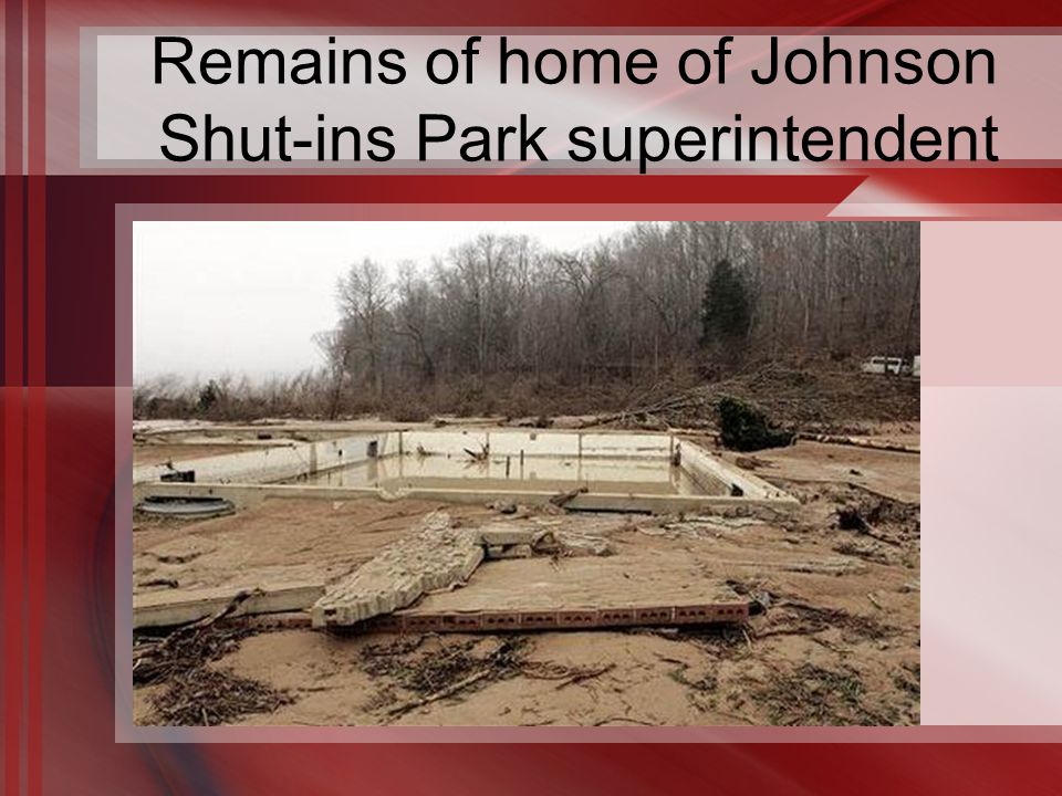 Remains of home of Johnson Shut-ins Park superintendent