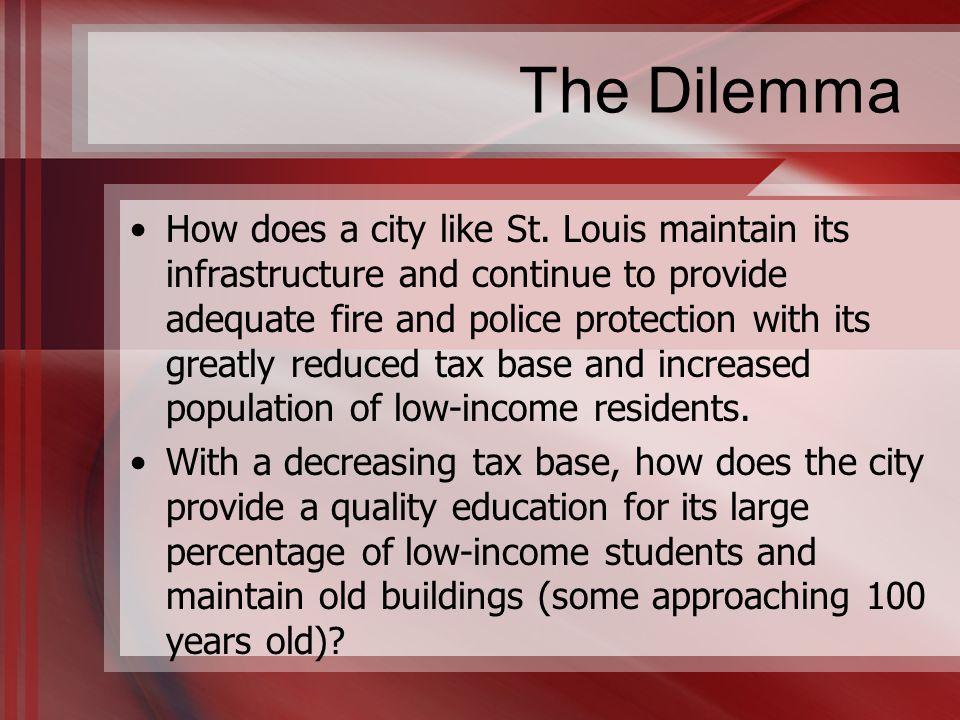 The Dilemma How does a city like St.