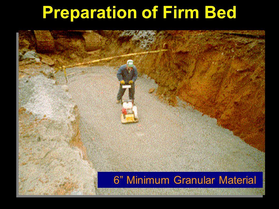 Preparation of Firm Bed 6 Minimum Granular Material