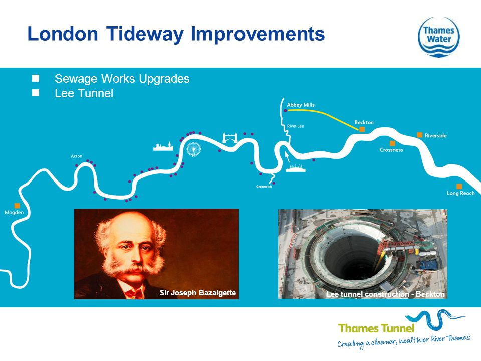 London Tideway Improvements Sewage Works Upgrades Lee Tunnel Sir Joseph Bazalgette Lee tunnel construction - Beckton