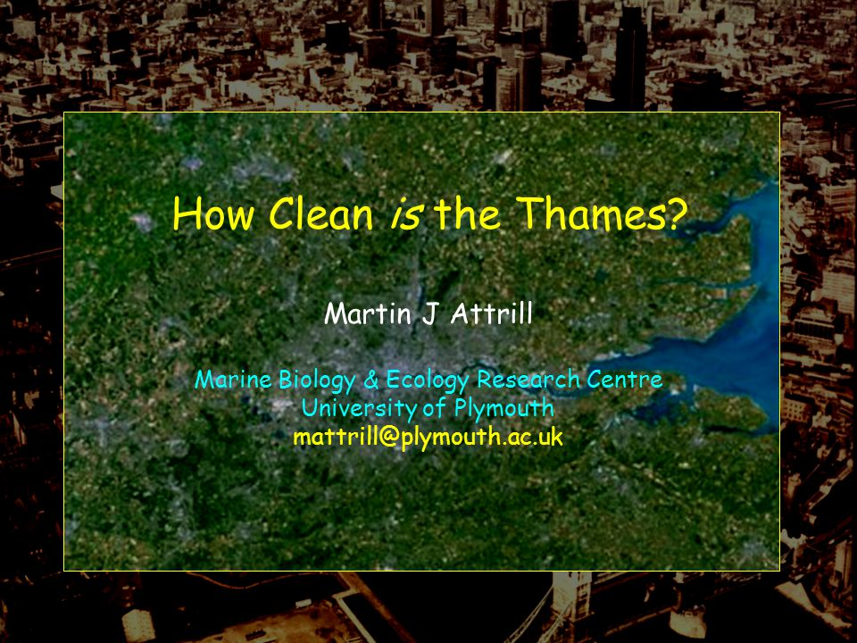 How Clean is the Thames.