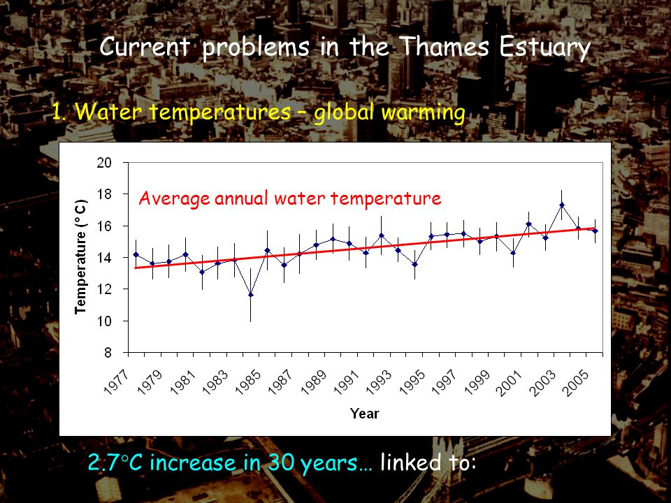 Current problems in the Thames Estuary 1.