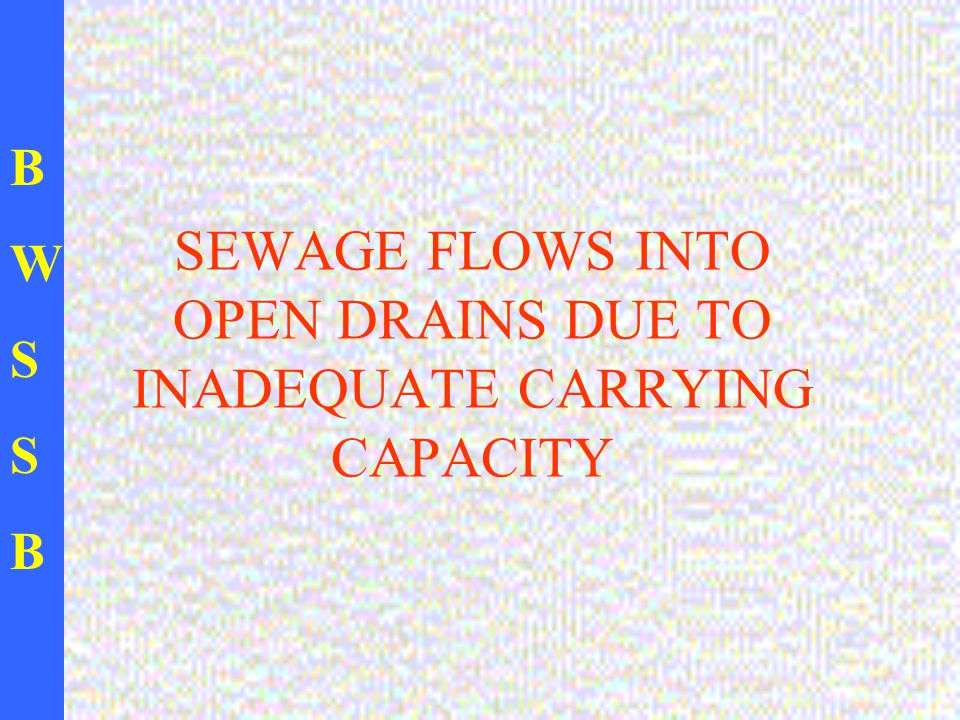 BWSSBBWSSB SEWAGE FLOWS INTO OPEN DRAINS DUE TO INADEQUATE CARRYING CAPACITY