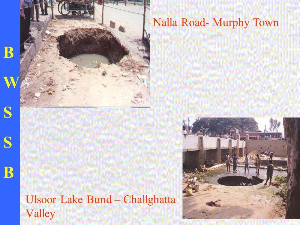 BWSSBBWSSB Ulsoor Lake Bund – Challghatta Valley Nalla Road- Murphy Town