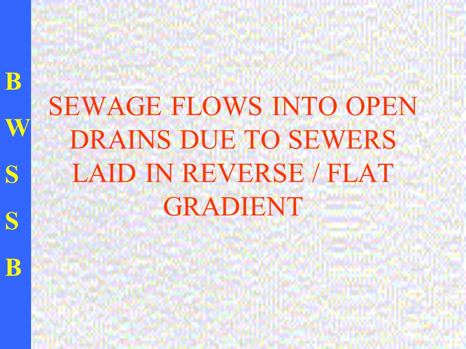 BWSSBBWSSB SEWAGE FLOWS INTO OPEN DRAINS DUE TO SEWERS LAID IN REVERSE / FLAT GRADIENT