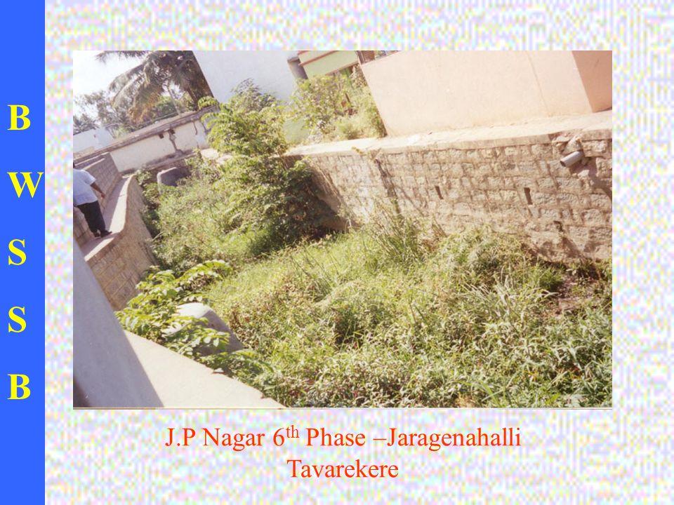 BWSSBBWSSB J.P Nagar 6 th Phase –Jaragenahalli Tavarekere