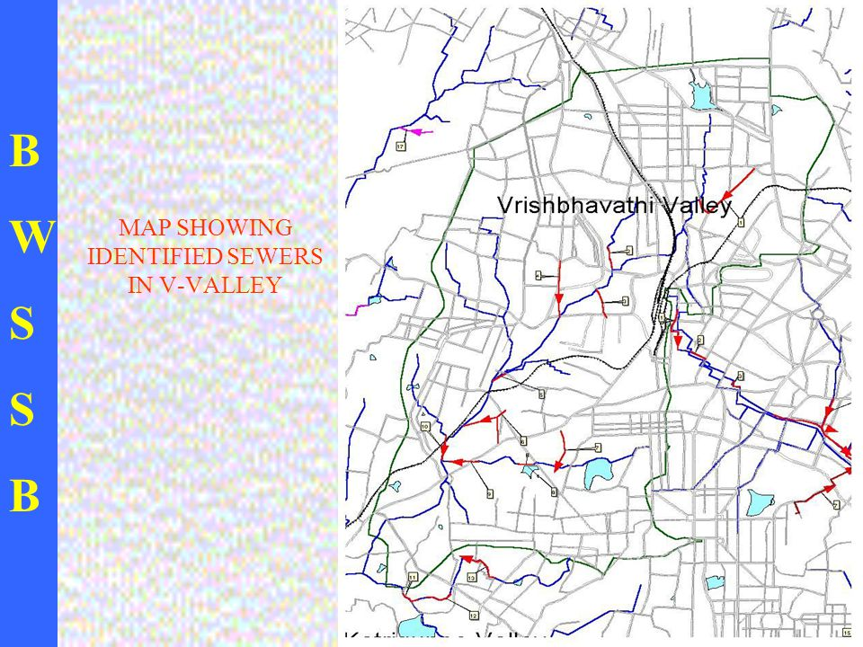 BWSSBBWSSB MAP SHOWING IDENTIFIED SEWERS IN V-VALLEY