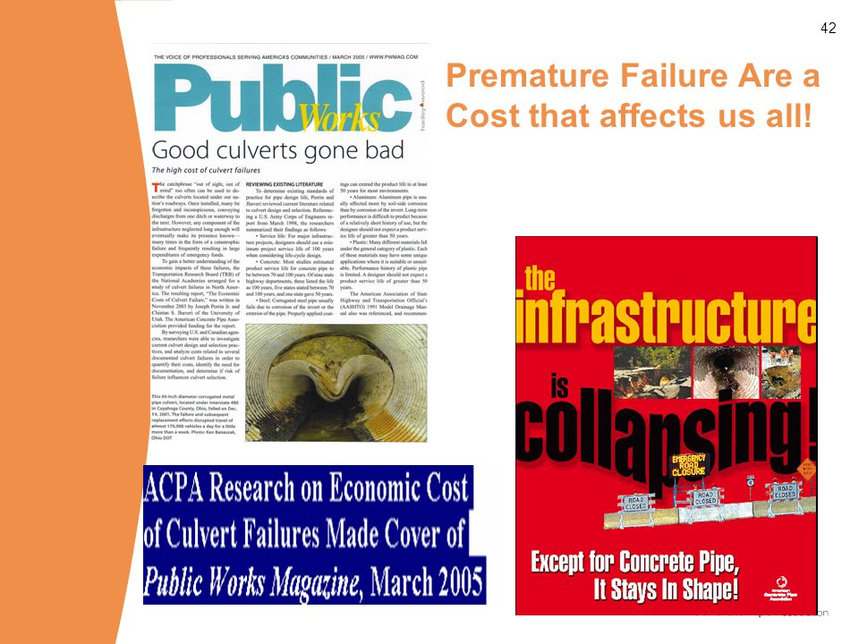 42 Premature Failure Are a Cost that affects us all!