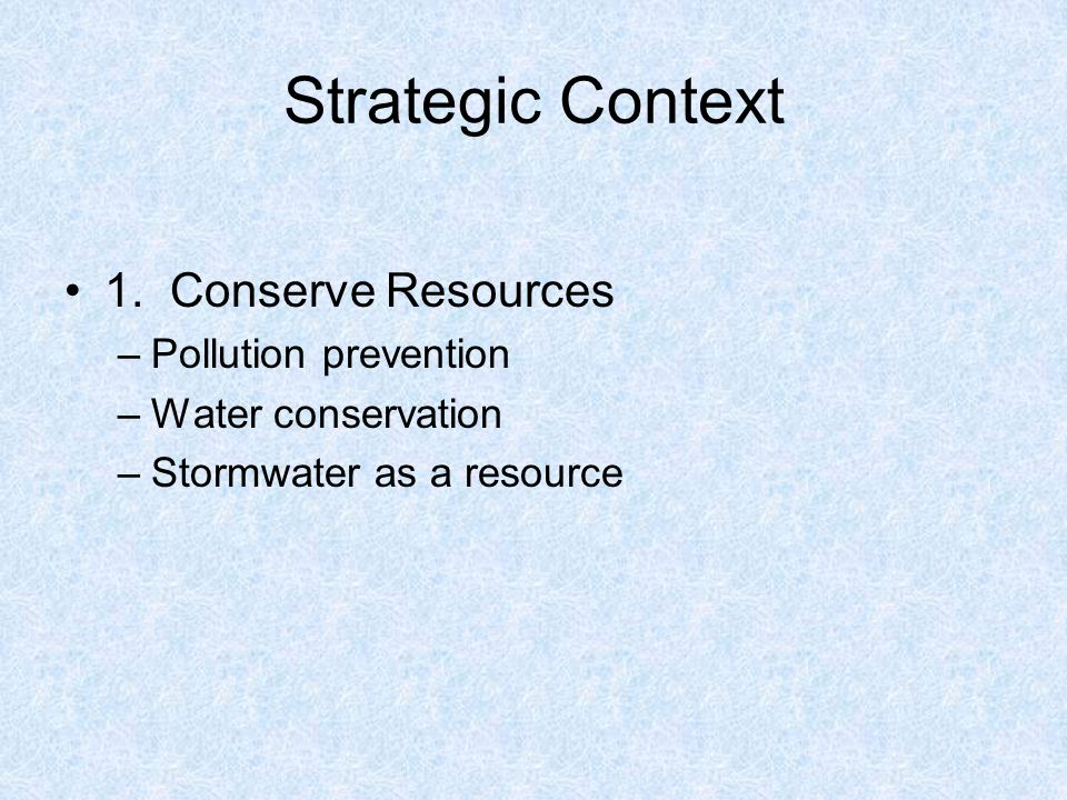 Strategic Context 1.