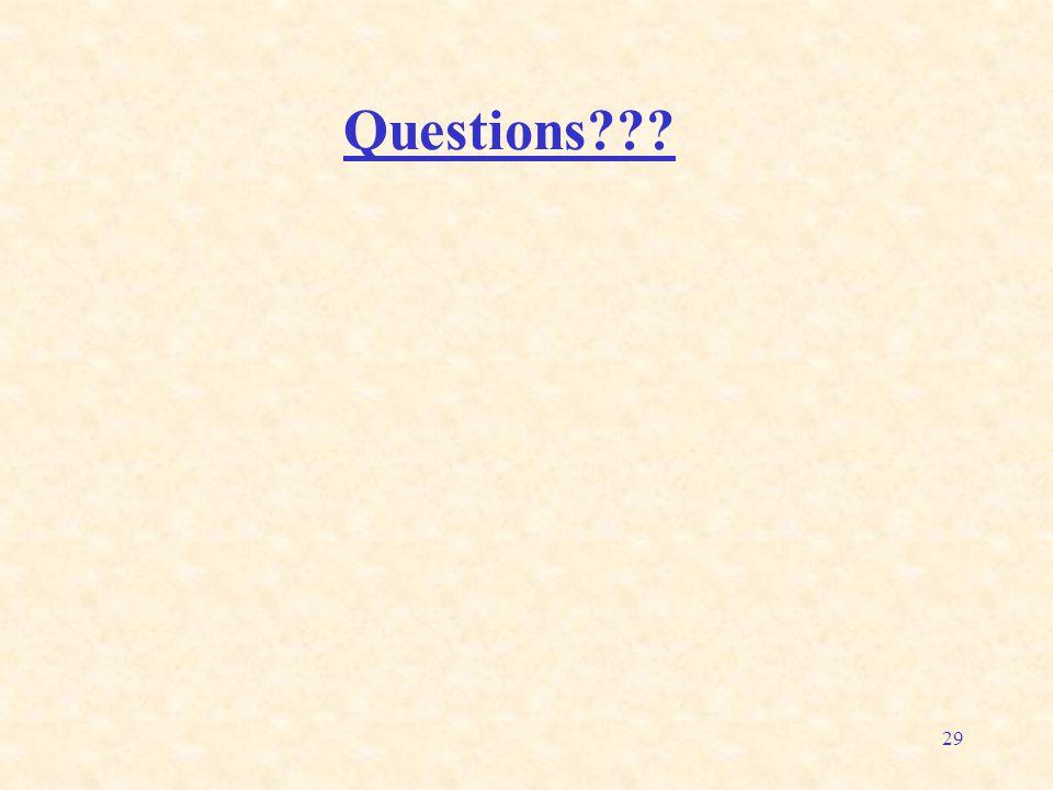 29 Questions???