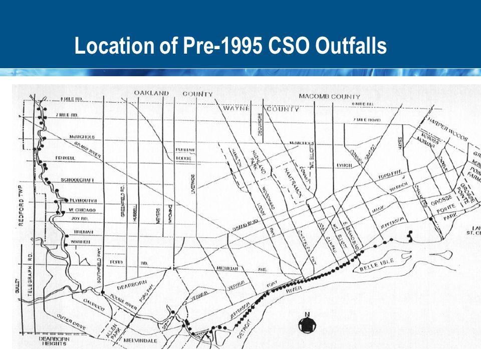 Location of Pre-1995 CSO Outfalls