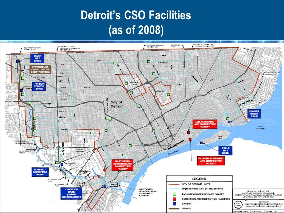 Detroit's CSO Facilities (as of 2008)
