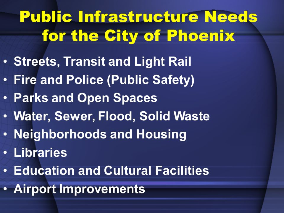 Total Assets $8.9 Billion Infrastructure and Improvements CITY OF PHOENIX CAPITAL ASSETS BY TYPE FY 2005-06