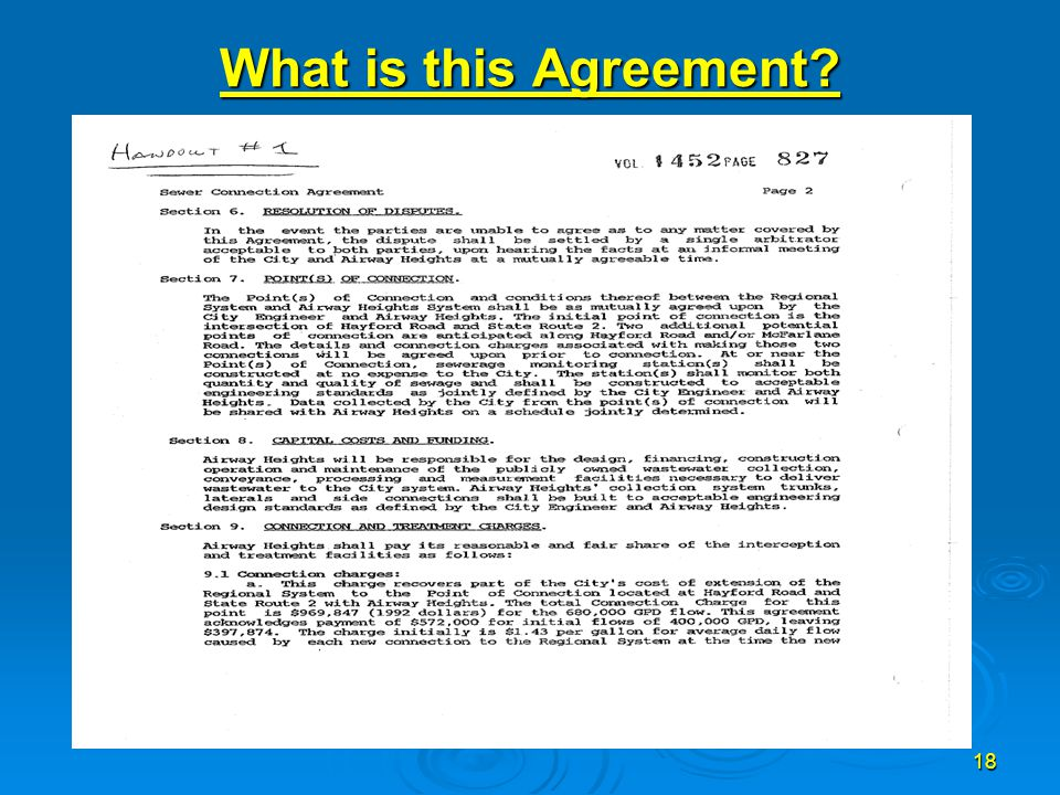 18 What is this Agreement?