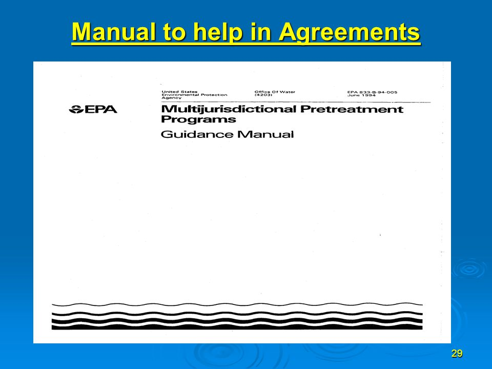 29 Manual to help in Agreements