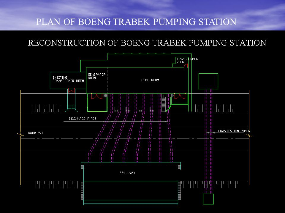 PLAN OF BOENG TRABEK PUMPING STATION
