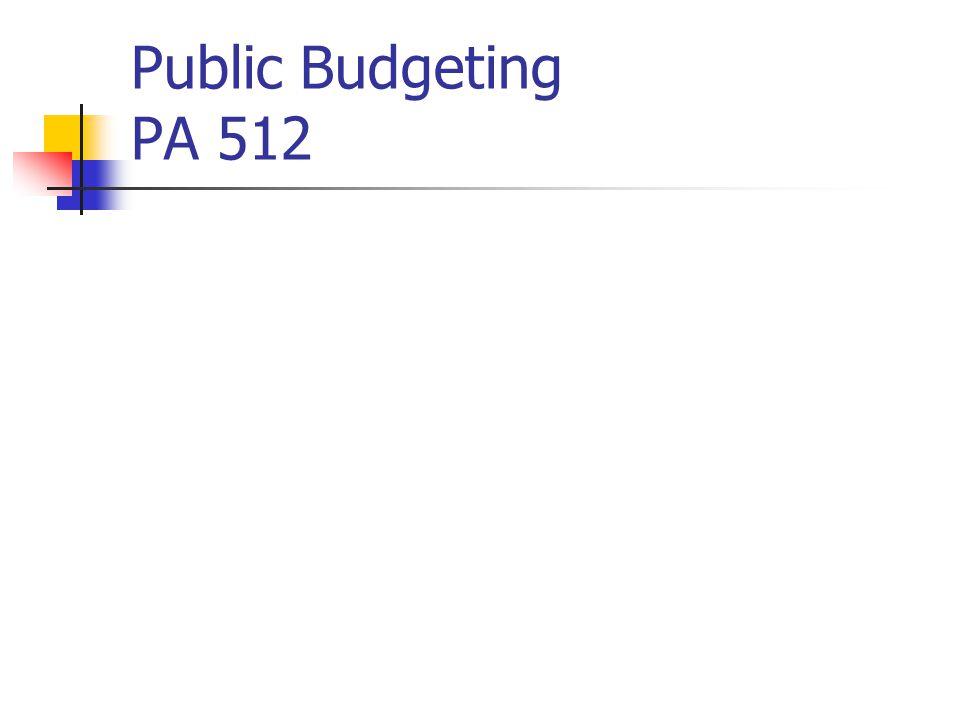 Public Budgeting PA 512