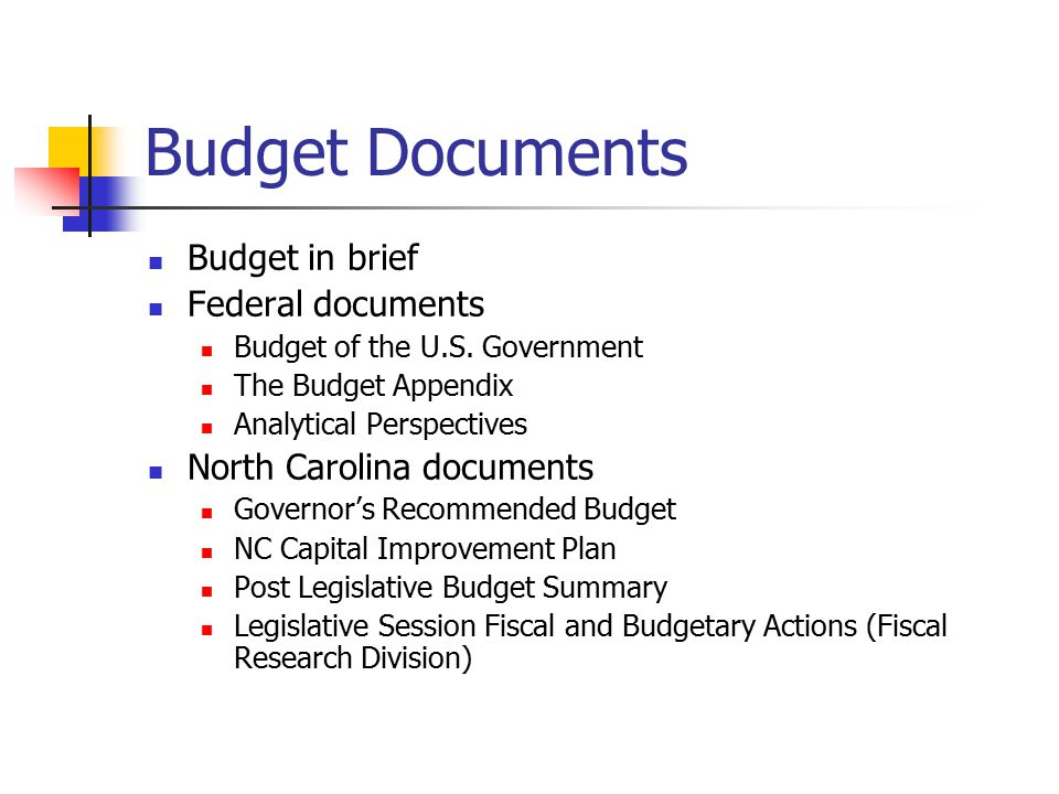 Budget Documents Budget in brief Federal documents Budget of the U.S.