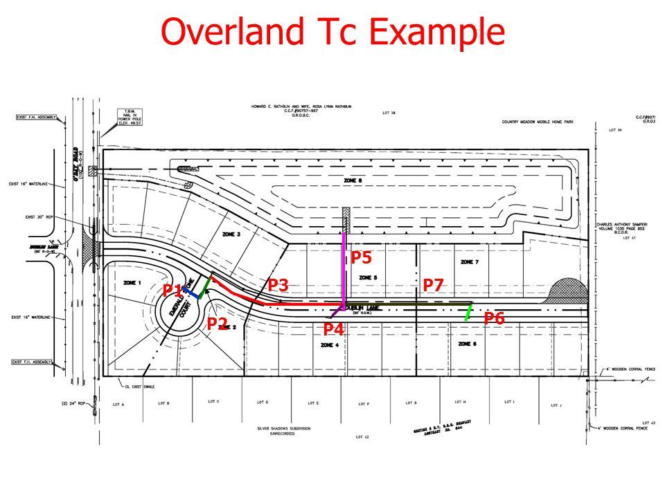 16 Overland Tc Example P1 P2 P3 P4 P6 P5 P7
