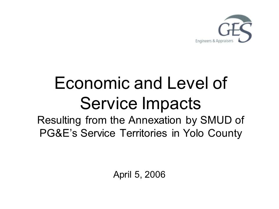 12 SMUD Cost of Service Based on cost of providing service in the annexation area Cost of service includes –Debt service associated with acquisition –Power supply costs –Operating and administrative costs –Franchise fee and property tax payments –Non-bypassable charges