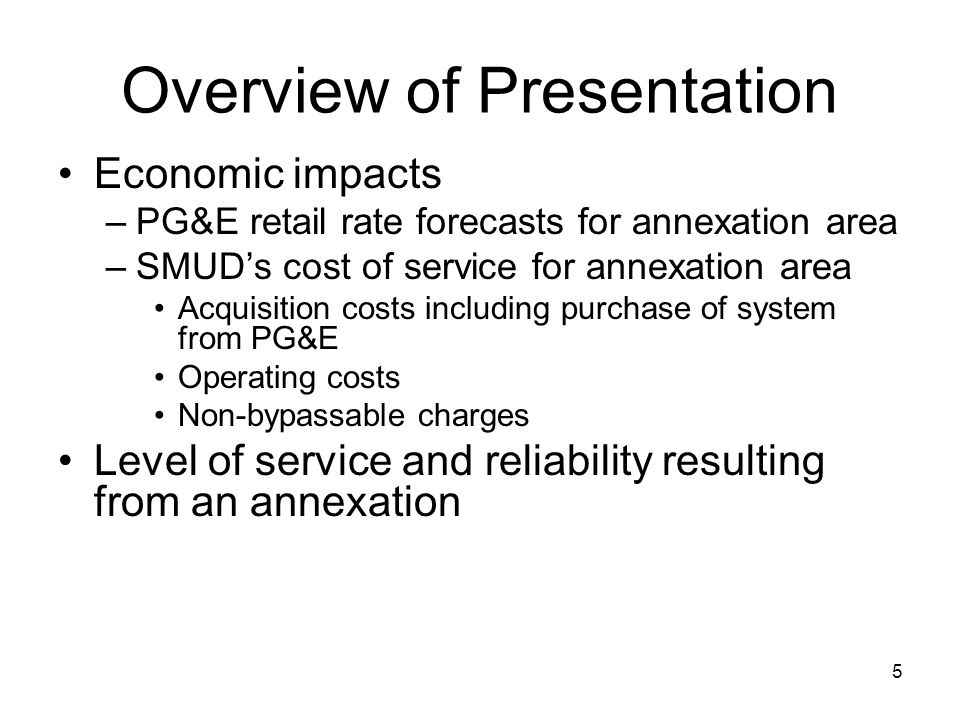 16 SMUD Cost of Acquisition Purchase of assets from PG&E Start-up and severance costs