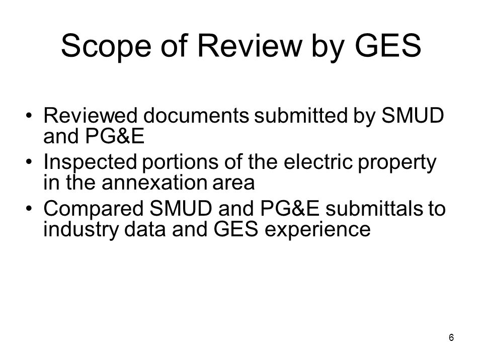 17 Comparison of SMUD and PG&E Acquisition Cost Estimates SMUD ($ in millions) PG&E ($ in millions) Estimated Fair Market Value$84.00$516.70 Severance, Start-up and Stranded Costs$53.00$50.60 Total:$137.00$567.30