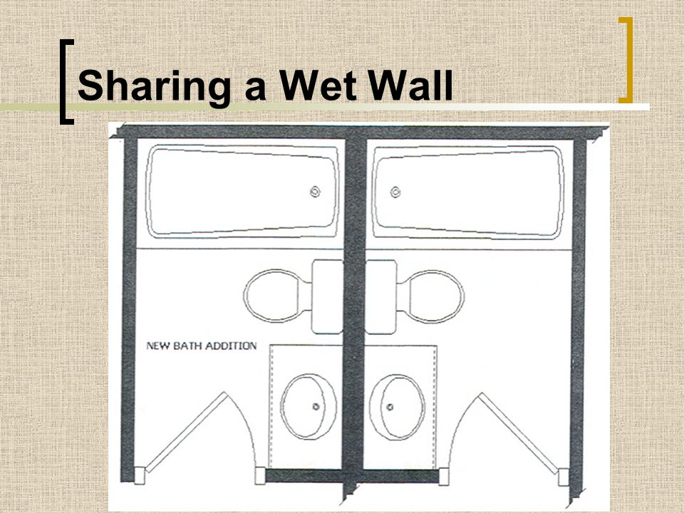 Sharing a Wet Wall