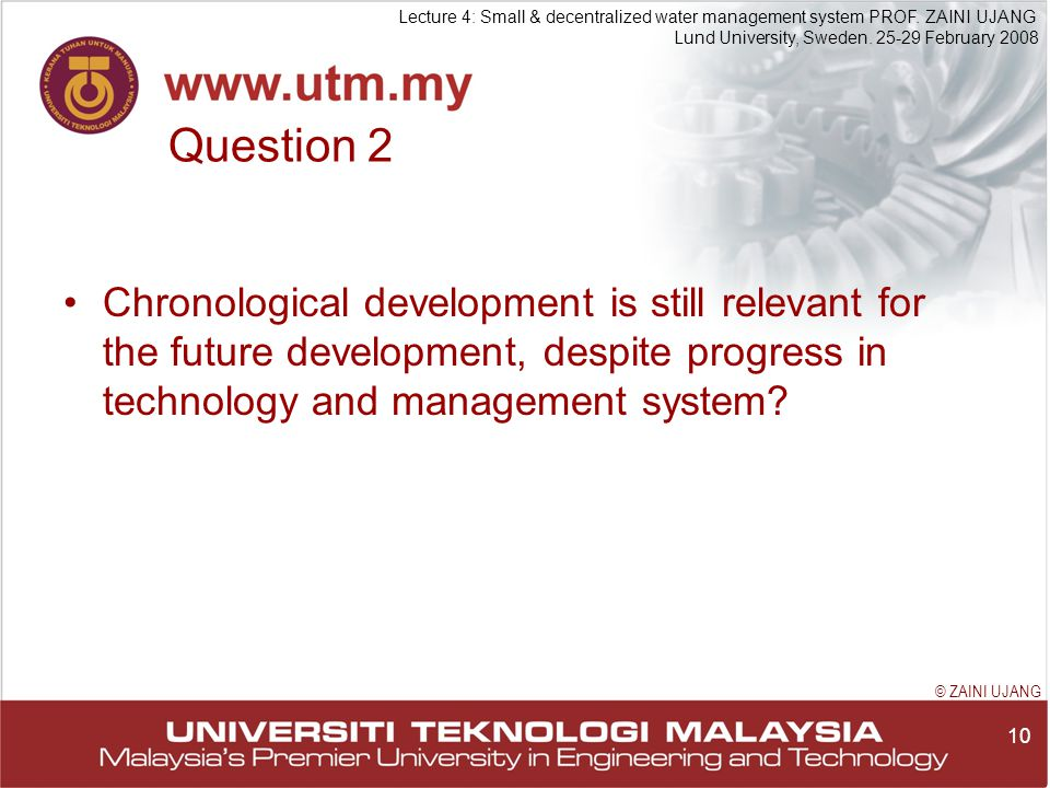 10 Lecture 4: Small & decentralized water management system PROF.