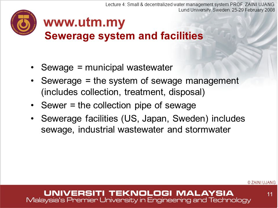 11 Lecture 4: Small & decentralized water management system PROF.