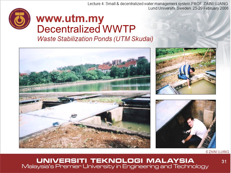 31 Lecture 4: Small & decentralized water management system PROF.