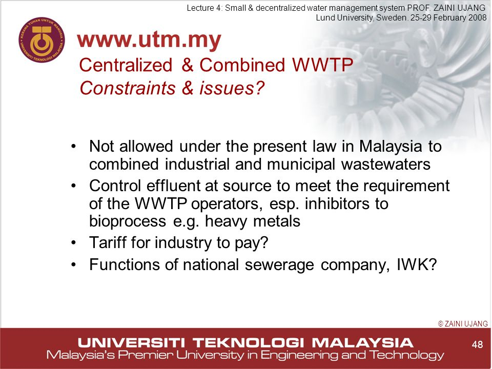 48 Lecture 4: Small & decentralized water management system PROF.