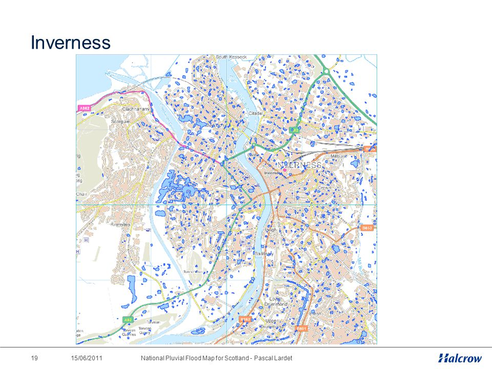 15/06/2011 19National Pluvial Flood Map for Scotland - Pascal Lardet Inverness