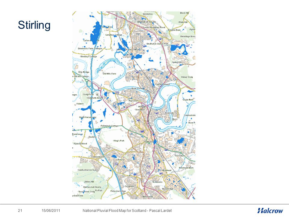 15/06/2011 21National Pluvial Flood Map for Scotland - Pascal Lardet Stirling