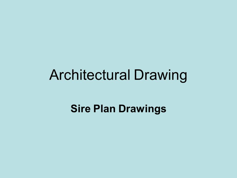 Architectural Drawing Sire Plan Drawings