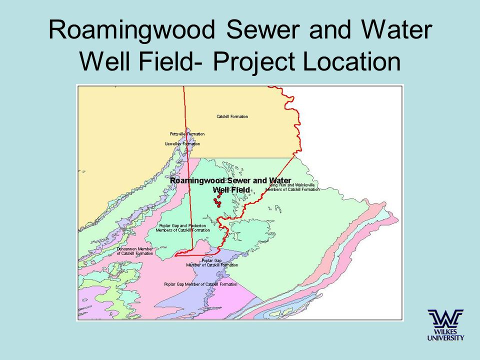 Roamingwood Sewer and Water Well Field- Project Location