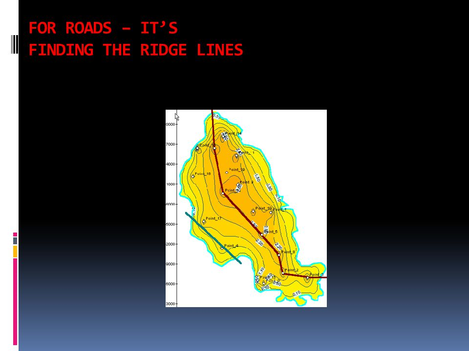 FOR ROADS – IT'S FINDING THE RIDGE LINES