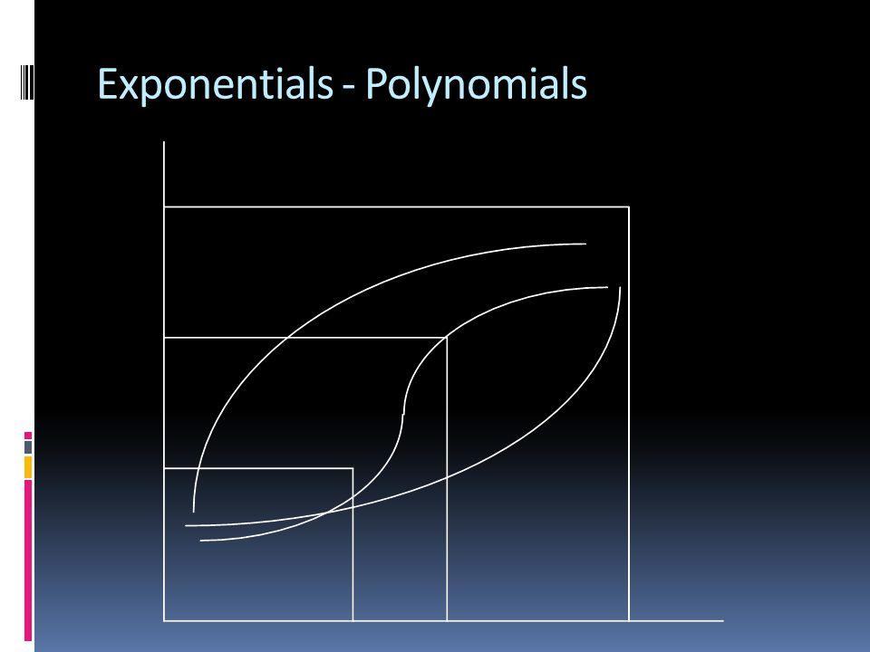 Exponentials - Polynomials